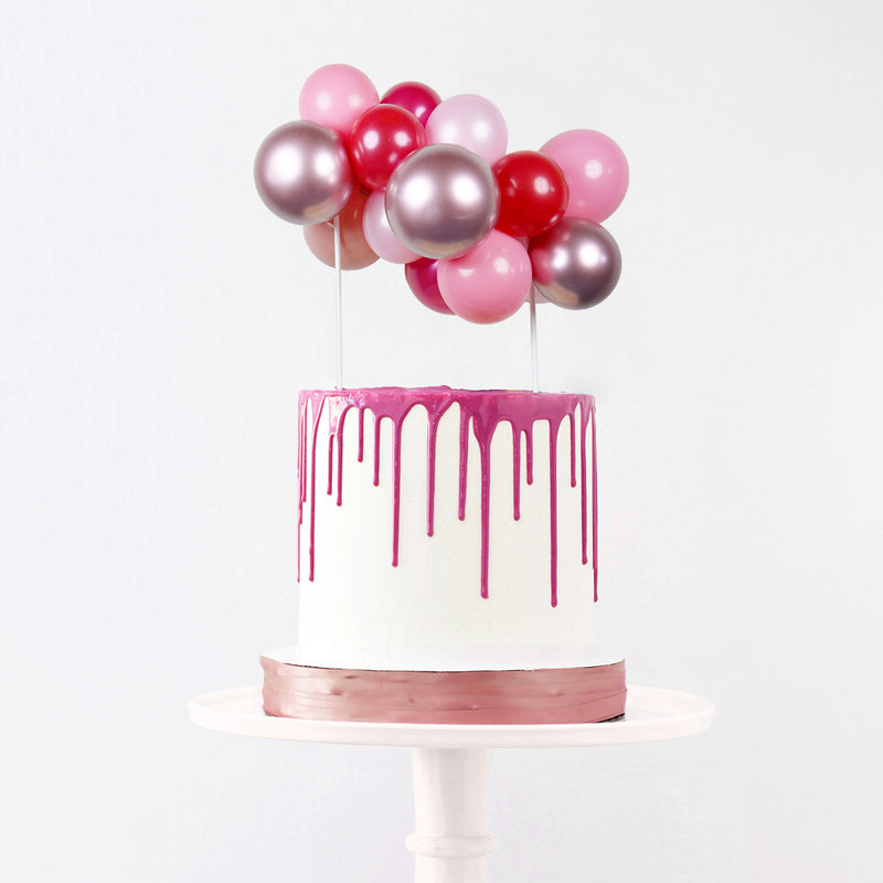 Pink Balloon Garland Cake Topper | Pink Cake Decorating Supplies