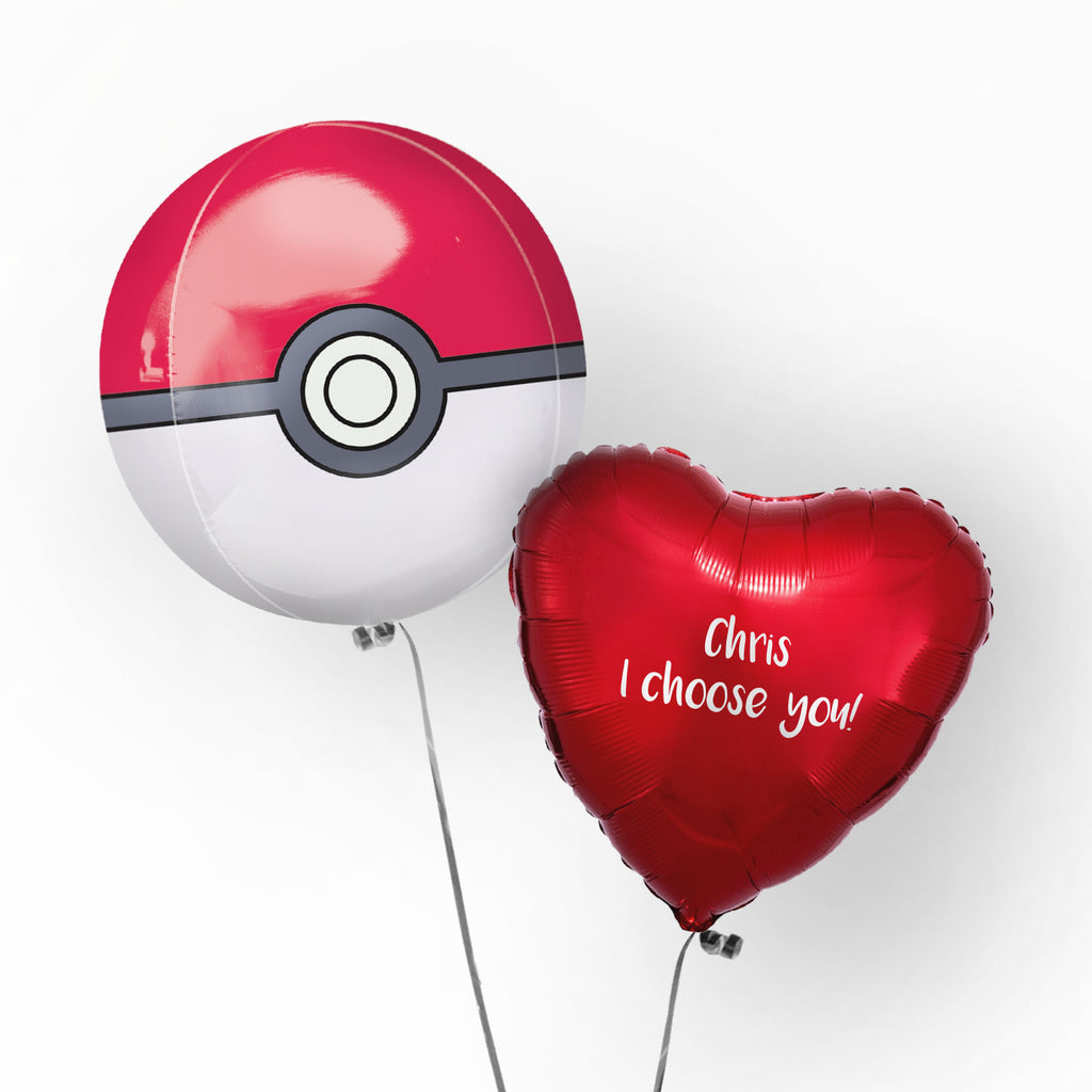 Personalised Pokeball Balloon | Valentines Balloons Wellington