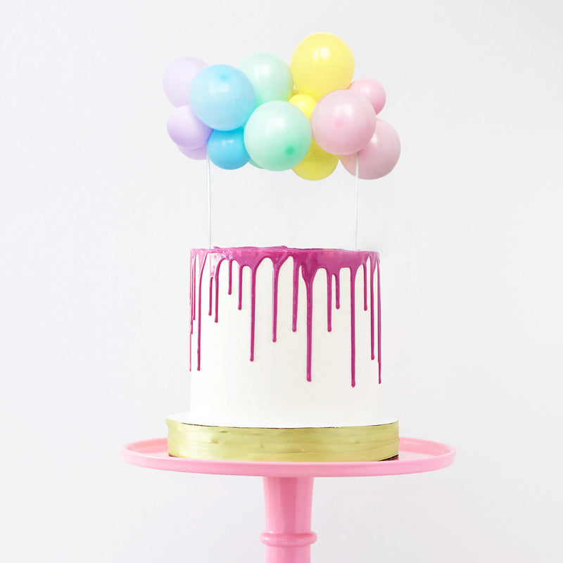 Pastel Rainbow Balloon Cake Topper | Rainbow Cake Decorations