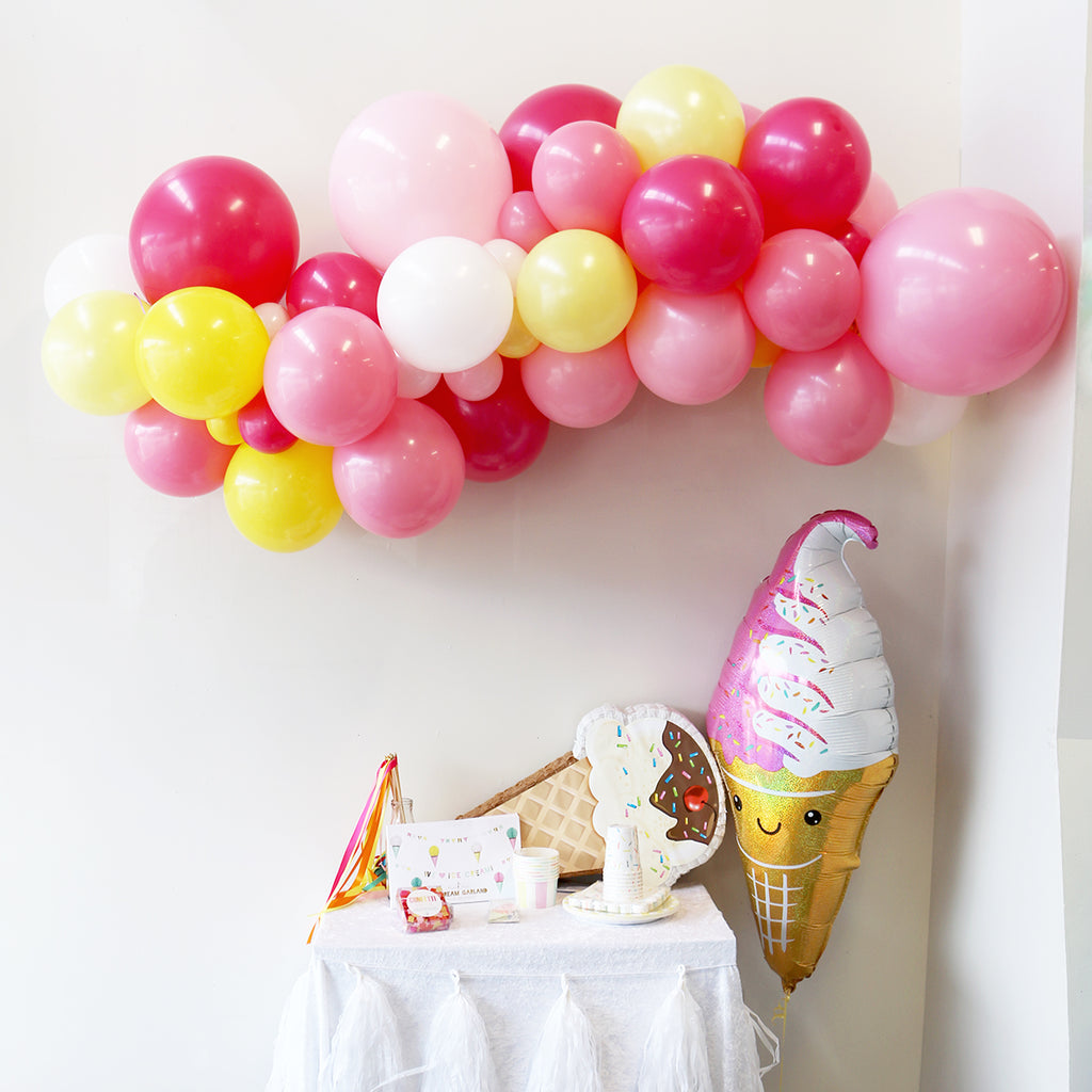 Sorbet Sundae Balloon Garland | Ice Cream Party Supplies