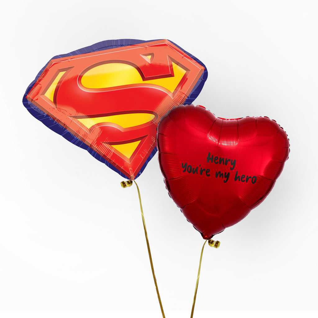 Superman Valentines Balloon | Valentines Balloons Wellington