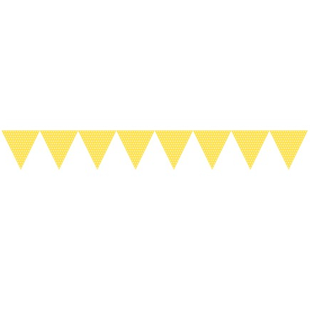Bunting Flags - Yellow with Spots