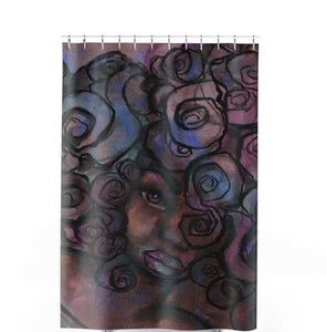 Colors and Curls Shower Curtain - Unapologetic Decor