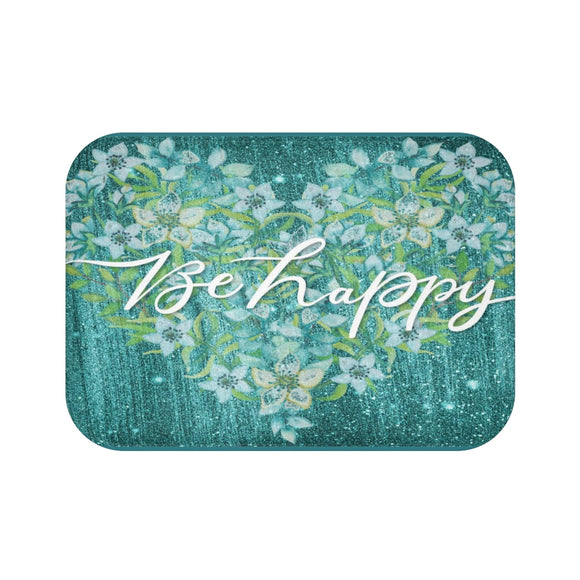 Be Happy Bath Mat - Unapologetic Decor