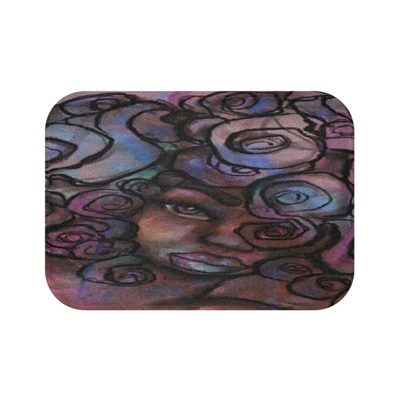 Colors and Curls Bath Mat - Unapologetic Decor