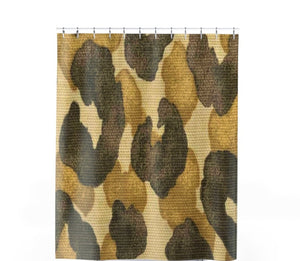 Leopard Weave Shower Curtain - Unapologetic Decor