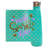 Smile, Sparkle, Shine Peristyle Water Bottles - Unapologetic Decor