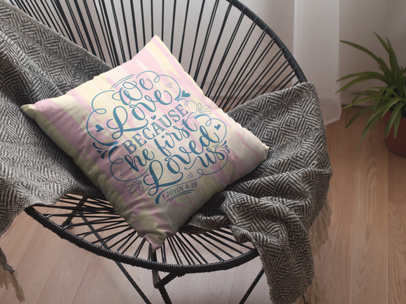 We Love Square Pillow - Unapologetic Decor