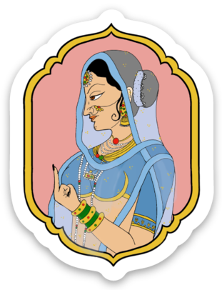 A Maharani Mood - Die Cut Sticker