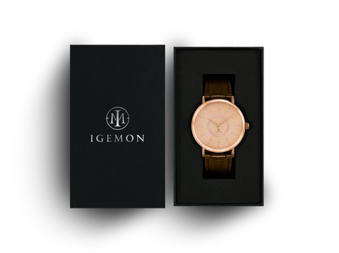 Ionic Rose Gold Leather
