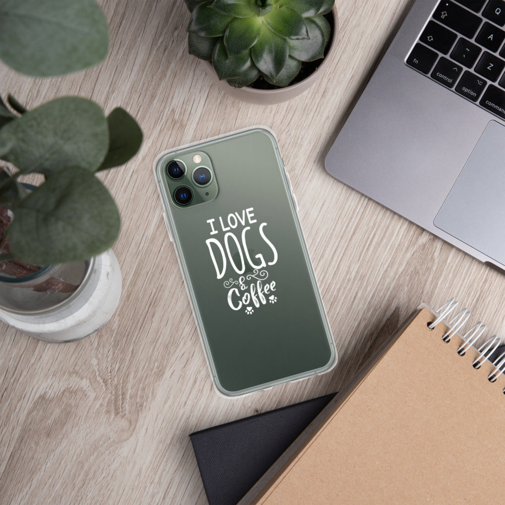 I Love Dogs & Coffee iPhone Case - Doggie Clothes Shop