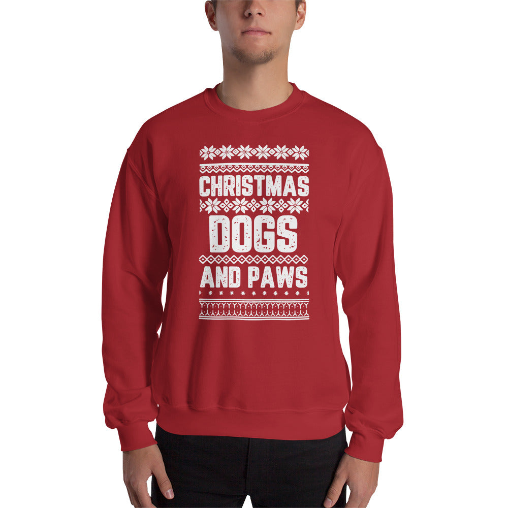 Christmas Dogs and Paws Unisex Sweatshirt - Doggie Clothes Shop