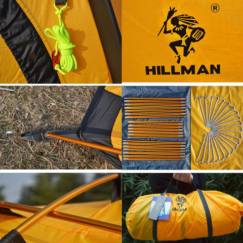 HILLMAN Double Layer 3-4 Person Waterproof Ultralight Camping Tent