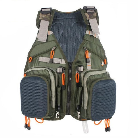 High-Quality Adjustable Fishing Vest with Multifunction Pockets