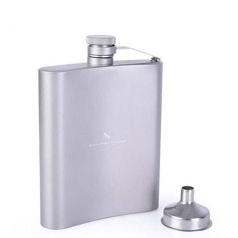 Boundless Voyage 200ml Titanium Hip Flask