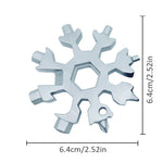 18-in-1 Stainless Steel Snowflakes EDC Multi-tool Screwdriver