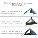 GeerTop Pyramid 3S Ultralight 1-Person Backpacking Camping Tent