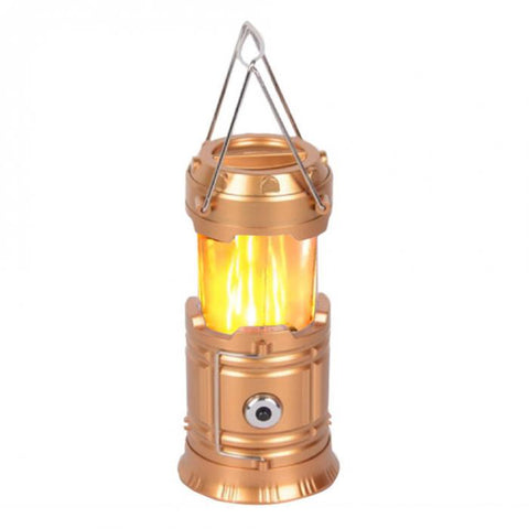 3 in 1 LED Tent Light Camping Lantern - Gold