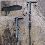 PIONEER T Handle Carbon Fiber Cane Trekking Pole Walking Stick