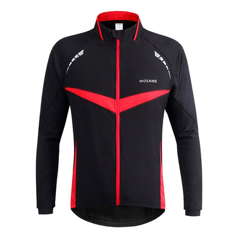 WOSAWE Windproof Breathable Unisex Cycling Jersey