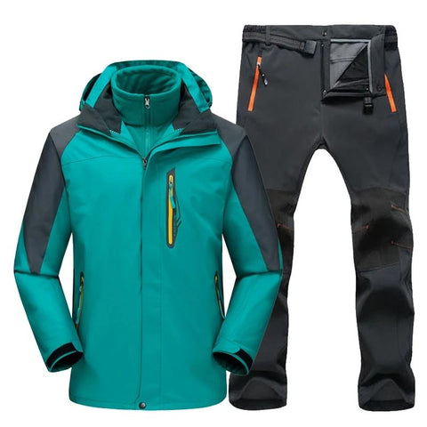 TRVLWEGO Men Hiking Ski Jacket & Pants Set