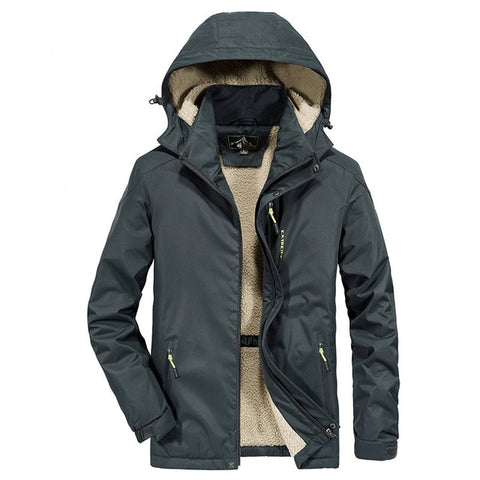 Men Inner Fleece Waterproof Jacket