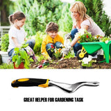 12 Inches Rubber Handle Aluminum Alloy Gardening Weed Puller Tool