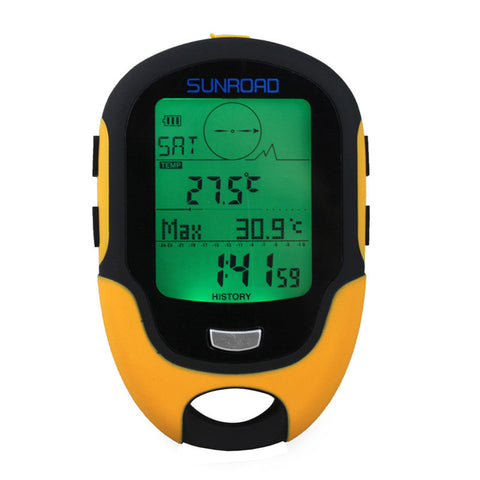 SUNROAD FR500 Portable Waterproof Multifunction Altimeter Barometer Compass - GoGetThings