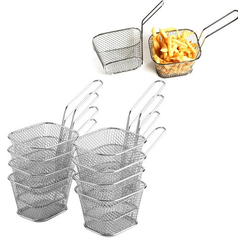 8Pcs Mini Serving Food Fry Baskets - GoGetThings