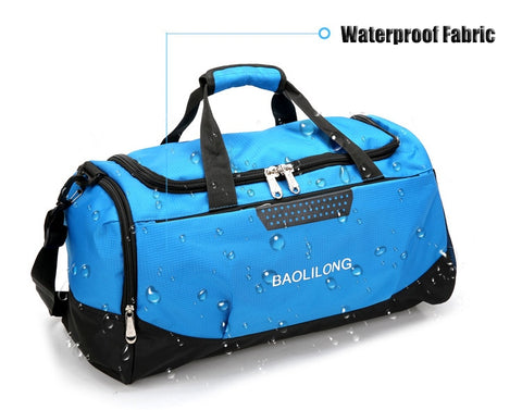 Large Waterproof Gym Bag with Shoes Pocket - GoGetThings