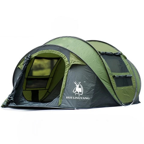 HUI LINGYANG Waterproof Pop Up Camping Family Tent