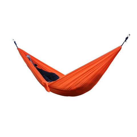 Portable Nylon Camping Hammock with Carabiner and Ropes