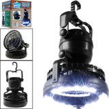 2 In 1 Portable Camping Lantern Tent LED and Fan