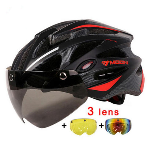 MOON Cycling Helmet with Magnetic Goggles