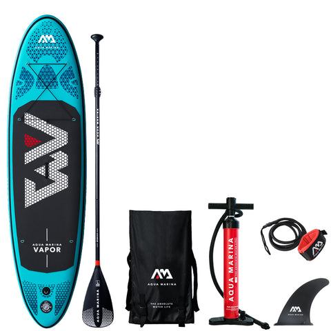 AQUA MARINA-VAPOR 9'10'' Inflatable Stand Up Paddle Board with Seat