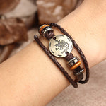 12 Constellations Leather Bracelets - GoGetThings