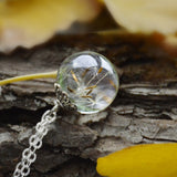 Dandelion Pendant Resin Necklace - GoGetThings