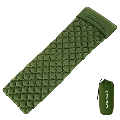TOMSHOO Ultralight Inflatable Sleeping Pad with Pillow - GoGetThings