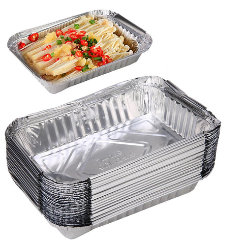 30pcs Disposable BBQ Aluminum 570ml Foil Drip Pans