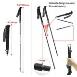HITORHIKE Ultralight Folding Carbon Fiber Trekking Pole