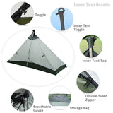 GeerTop 4-Season 1-Person Ultralight Waterproof Backpacking Camping Tent
