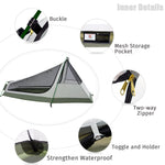 GeerTop 3-Season 1-Person Lightweight Camouflage Backpacking Bivy Tent