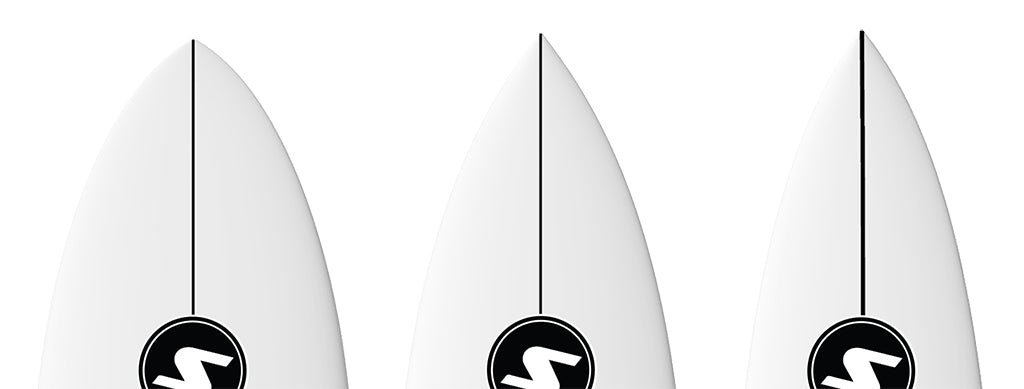 How To Choose A Surfboard The Nose Wide Nose Mid Nose Narrow Nose Comparison