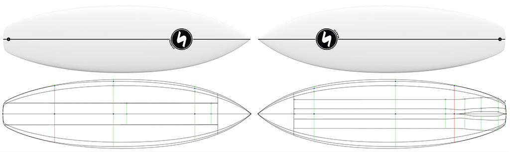 SURFit-3-Series-Two-Identical-Boards-Different-Rocker-Bottom-Shapes