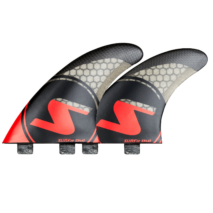 SURFit D1 Tri Fin Set Side and Rear FCS Twin Tab