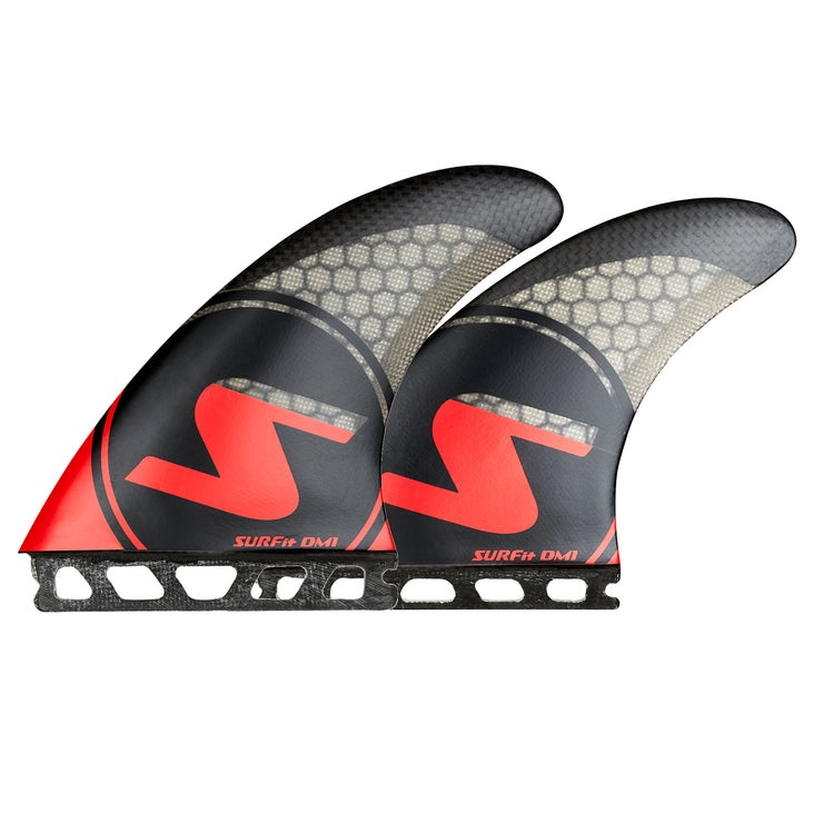 SURFit D1 Tri Fin Set Side and Rear Futures