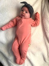 Load image into Gallery viewer, Newborn Jumpsuit Salmon Pink