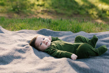 Load image into Gallery viewer, TØY Newborn jumpsuit forest green