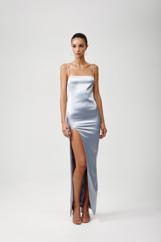 Estel Dress - Silver-DRESS-Catia Couture