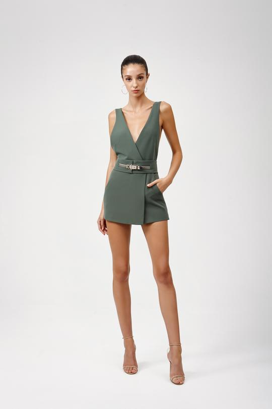 Deni Playsuit - Green-JUMPSUIT-Catia Couture